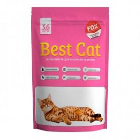 Asternut igienic din silicat Best Cat cu miros de flori 3,6L