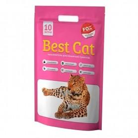 Asternut igienic din silicat Best Cat cu miros de flori 10L