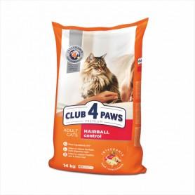 Hrana uscata pentru pisici Club 4 Paws Cat Hairball control 14kg