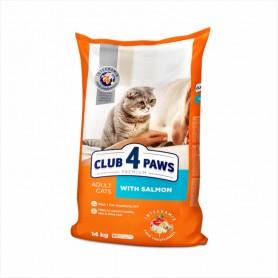 Hrana uscata pentru pisici Club 4 Paws Cat Salmon 14kg