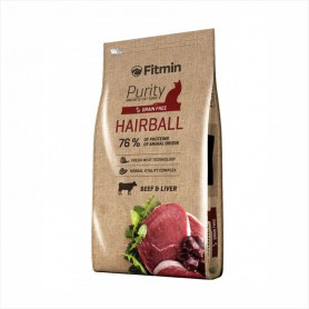 Hrana uscata pentru pisici Fitmin Purity GF Hairball Beef & Liver 10kg