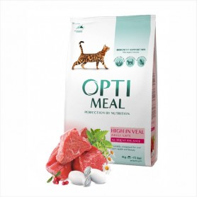 Hrana uscata pentru pisici Optimeal High in Veal 1kg (la cantar)