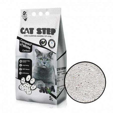 Asternut igienic Cat Step Compact White Carbon 5L