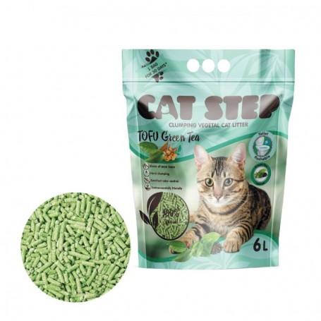 Asternut igienic Cat Step Tofu Green Tea 6L