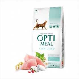 Сухой корм для кошек Optimeal Sterilised Turkey with oat for adult cats 1кг (на развес)