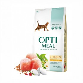 Hrana uscata pentru pisici Optimeal Perfection by nutrition Chicken for adult cats 1kg (la cantar)