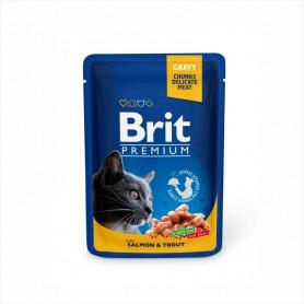 Hrana umeda Brit Premium Salmon & Trout 100g