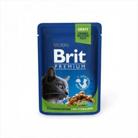 Hrana umeda Brit Premium Chicken Slices for Sterilised 100g
