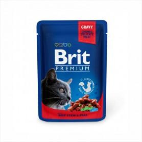 Hrana umeda Brit Premium Beef Stew & Peas 100g