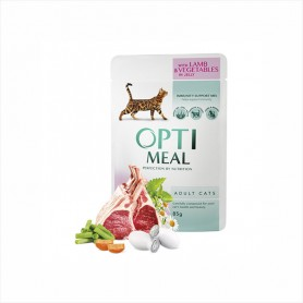 Hrana umeda Optimeal Lamb & Vegetables in jelly 85g