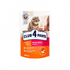 Hrana umeda Club 4 Paws Premium with Veal in gravy 100g